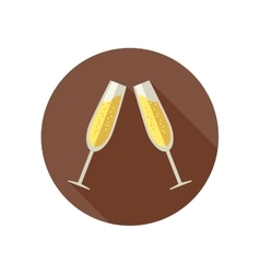 Clink glasses with champagne vector image
