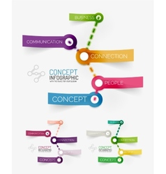Connection theme keyword infographic vector