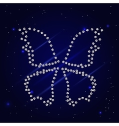 Diamond dotted butterfly vector image