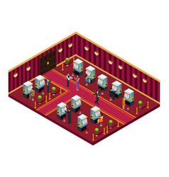 isometric casino interior room template vector image