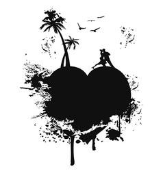 love heart island vector image vector image