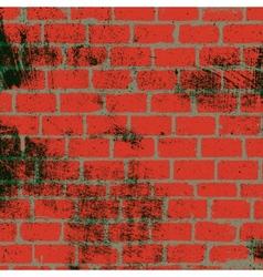 Messy Brickwall Texture vector image vector image