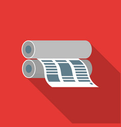 Newspaper printing machine in flate style isolated vector
