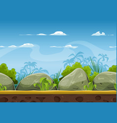 seamless tropical beach landscape for ui game vector image