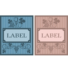 Wine labels in retro style vector image