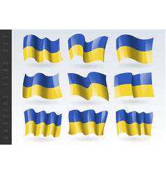 3d waving flag ukaine isolated on white vector image