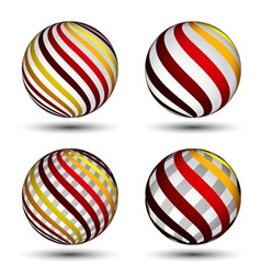 abstract globes vector image