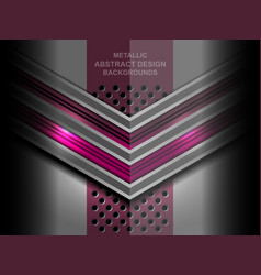 abstract metal geometric background vector image