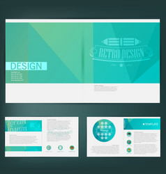 Abstract template design brochure web sites page vector