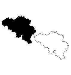 belgian map vector image