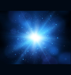 Blue explosion background vector