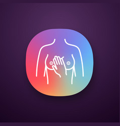 breast palpation app icon vector image