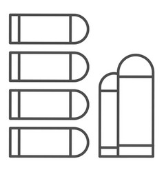 Bullets thin line icon ammunition vector