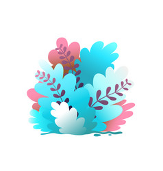 bush and leaves floral flat background design vector image