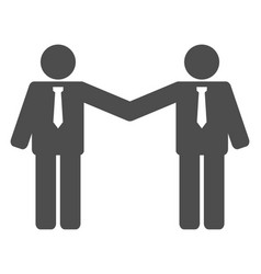 businessmen relations flat icon symbol vector image
