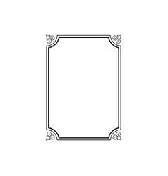 calligraphy ornamental decorative frame isolated vector image