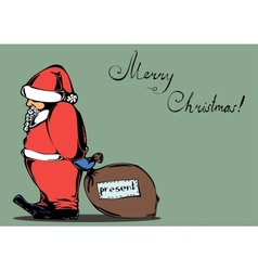 card for Christmas with Santa Claus vector image