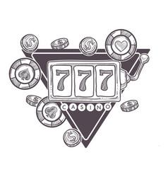 casino poster gambling playing in poker vector image