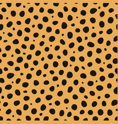 cheetah animal print seamless pattern vector image
