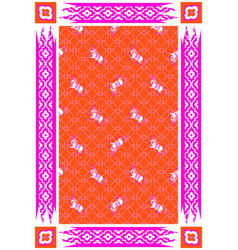 Circus horse red and pink carpet design vector