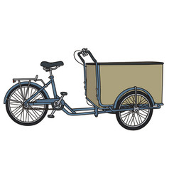 Classic freight rickshaw vector