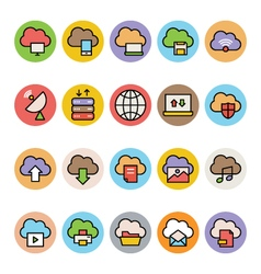 Cloud Computing Colored Icons 2 vector