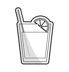 cocktail in embellished glass icon image vector image