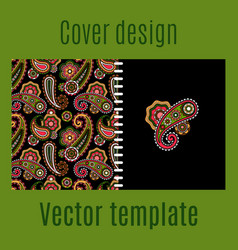 Cover design with paisley pattern vector