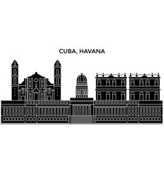 Cuba havana city architecture city skyline vector