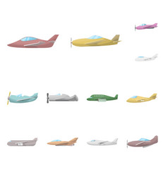 design aircraft and commercial icon vector image