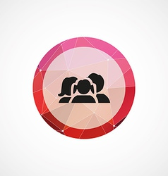 family circle pink triangle background icon vector image