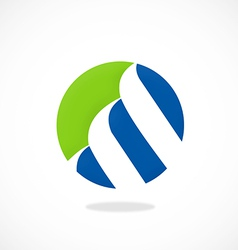finance round loop logo vector image