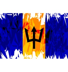 Flag of Barbados vector image