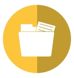 folder file document information shadow yellow vector image vector image