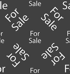 For sale sign icon Real estate selling Seamless vector image
