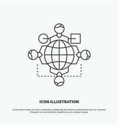 function instruction logic operation meeting icon vector image