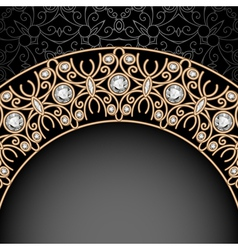 Gold jewelry background vector