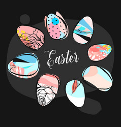 Hand drawn abstract creative easter vector