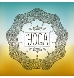 hand drawn ornamental yoga badge vector image