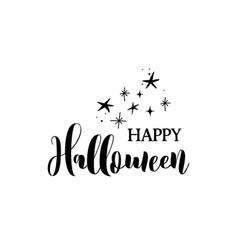 Happy halloween banner card label vector