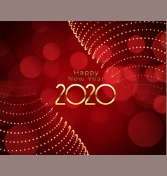 happy new year red and gold beautiful background vector image