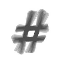 hashtag sign gray icon vector image vector image