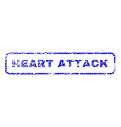 heart attack rubber stamp vector image