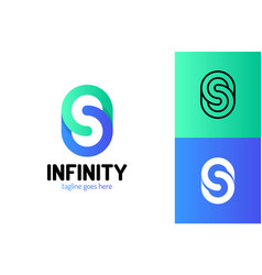 infinity letter s logo design template logo vector image