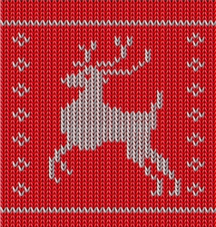 Knitted blue christmas ornamental vector