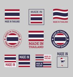 made in thailand icon set kingdom thailand vector image