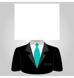 Man with a white paper sheet on the head vector image