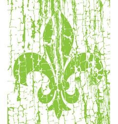 mardi gras simbol - fleur de lis grunge vector image