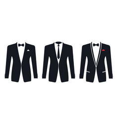 men formal suit on a white background vector image