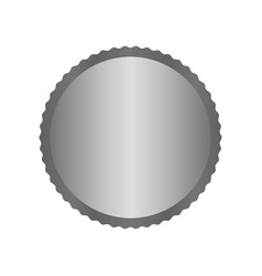 Modern metal silver circle metal badges labels vector